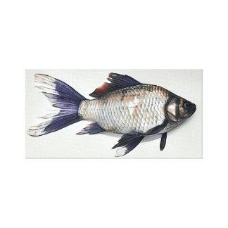 Silberne Goldfisch-Malerei Leinwanddruck