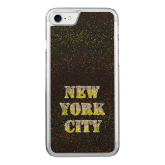 Silberne GoldGlitter New York City Carved iPhone 8/7 Hülle