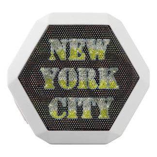 Silberne GoldGlitter New York City Weiße Bluetooth Lautsprecher