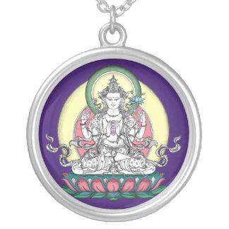 SILBERNE HALSKETTE Avalokiteshvara/Chenrezig