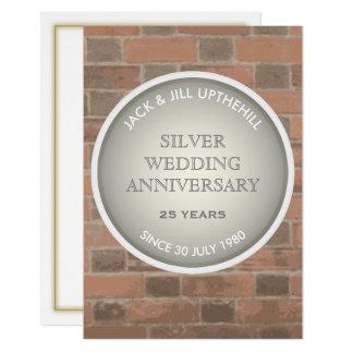 Silberne Hochzeits-Jahrestags-Party Einladung