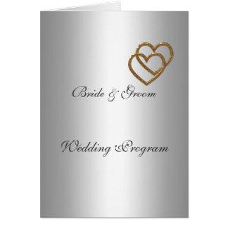 Silberne Hochzeits-Programm Grußkarte