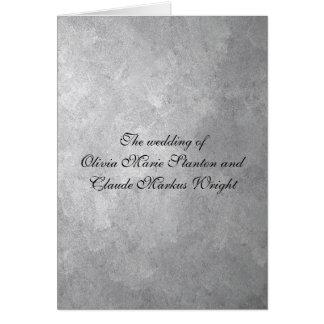 Silberne Hochzeits-Programm-Karten Grußkarte