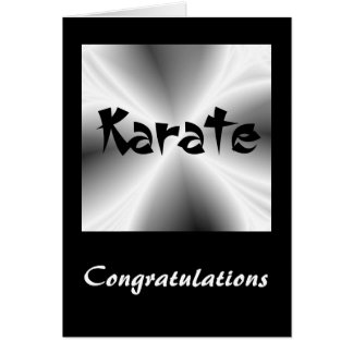 Silberne Karate-Glückwunsch-Karte Grußkarte
