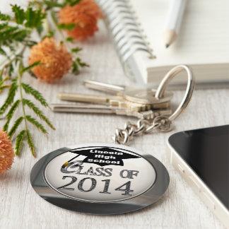 Silberne Klasse von Keychain 2014 Standard Runder Schlüsselanhänger