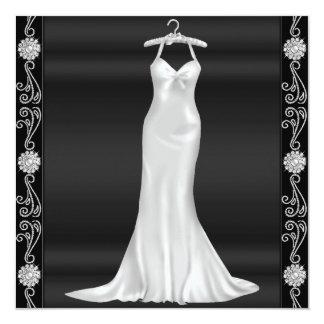Silberne Kleidergeburtstags-Party Einladung