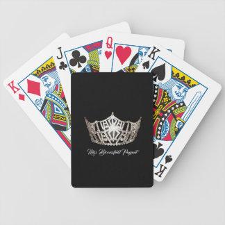 Silberne Kronen-kundenspezifische Spielkarten Miss