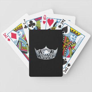 Silberne Kronen-Spielkarten Miss Amerikas Bicycle Spielkarten