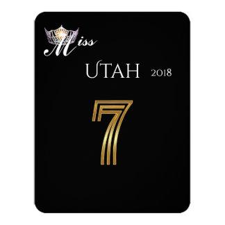 Silberne Kronen-Tabelle Card-7 Miss Amerikas Karte