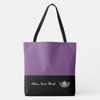 Silberne Kronen-Taschen-Tasche-Großes Lila Tasche