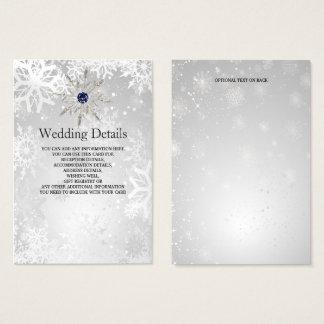 silberne Marineschneeflockewinter Visitenkarte