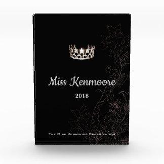 Silberne mit Blumenkronen-Acrylpreis Fräulein-USA Auszeichnung