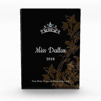 Silberne mit Blumenkronen-Acrylpreis Miss Amerikas Auszeichnung