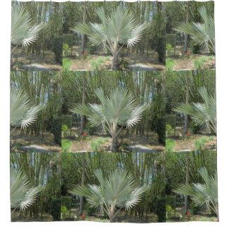 Silberne Palme Duschvorhang