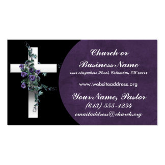Silberne QuerwFlowers 2 Kirchen-Visitenkarte