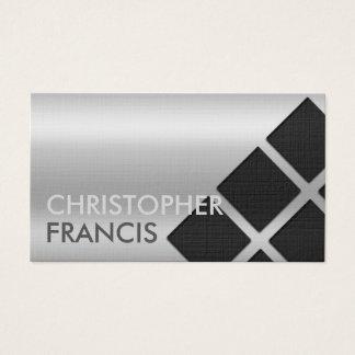 Silberne reflektierende Steigungskarte mit Visitenkarte