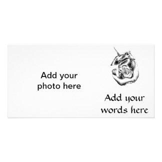 Silberne Rosen-Knospe Karte