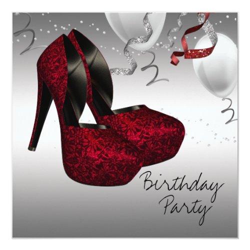 rote Einladungen zum 40. Geburtstag | meine