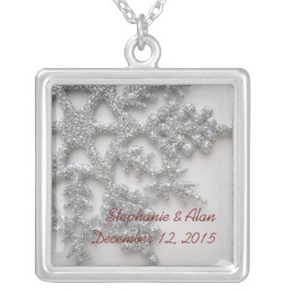 Silberne Schneeflocke-Hochzeits-Halskette