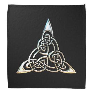 Silberne schwarze Dreieck-Spiralen-keltischer Halstücher