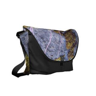 silberne schwarzes Moos graue Rickshaw-Bote-Tasche Kuriertaschen