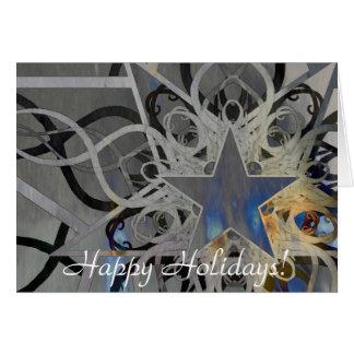 Silberne Stern-Feiertags-Karte