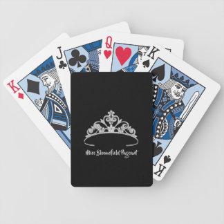Silberne Tiara-kundenspezifische Spielkarten Miss