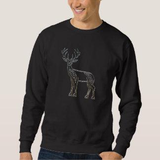 Silberne und schwarze Rotwild-keltischer Sweatshirt