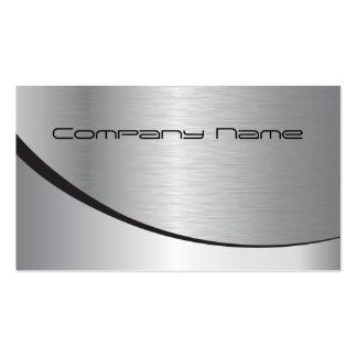 Silberne UnternehmensVisitenkarte Visitenkarten Vorlage