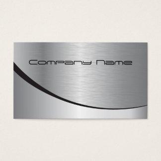 Silberne UnternehmensVisitenkarte Visitenkarten
