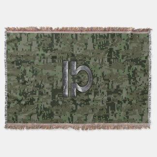 Silberne Waage-Tierkreis-Grün-Digital-Camouflage Decke