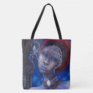 Silberne Witwe Tasche