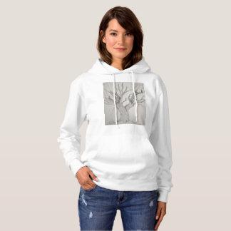 Silberner Ahorn-Baum-Shirt Hoodie