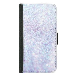 Silberner Beschaffenheits-Glitter Samsung Galaxy S5 Geldbeutel Hülle