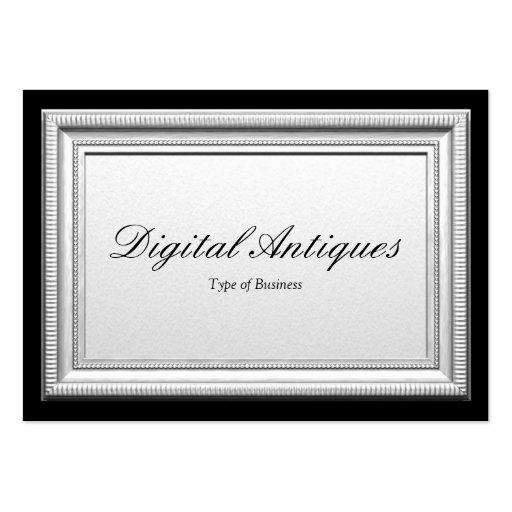 Silberner bilderrahmen visitenkarten vorlagen zazzle for Visitenkarten gratis vorlagen