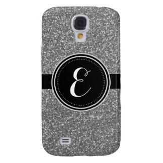 Silberner Bling Glitter-personalisierter Fall Galaxy S4 Hülle