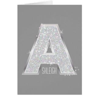 Silberner Buchstabe A Karte