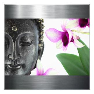 Silberner Buddha Fotodruck