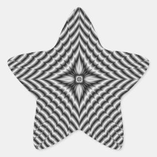 Silberner Diamant-Stern-Stern-Aufkleber Stern-Aufkleber