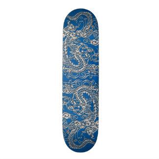 Silberner Drache auf lapis blauer lederner Individuelle Skateboards