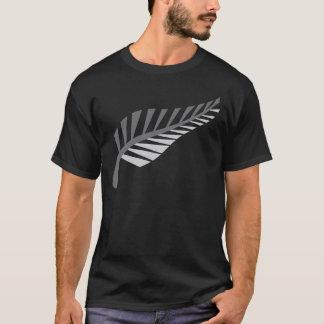 Silberner Farn-fantastisches Neuseeland-Bild T-Shirt