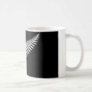 Silberner Farn-Flagge (Neuseeland) Kaffeetasse