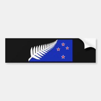 Silberner Farn-Flagge Neuseelands Autoaufkleber