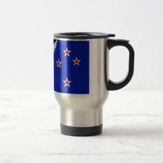 Silberner Farn-Flagge Neuseelands Reisebecher