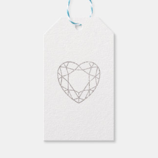 Silberner geometrischer Herz-Gastgeschenk Geschenkanhänger
