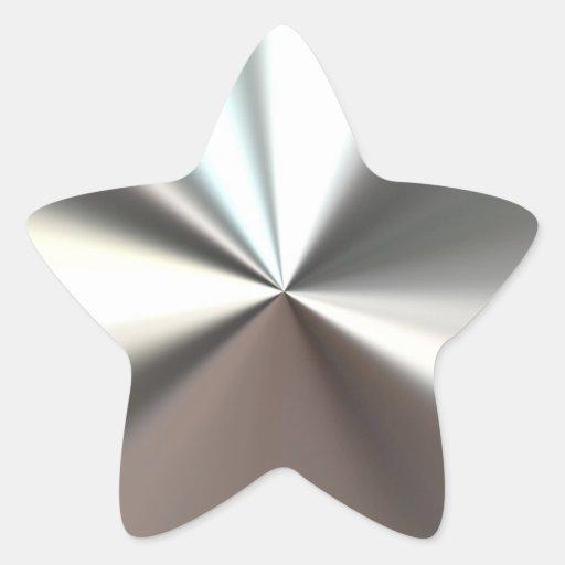 Silberner glänzender Aufkleber