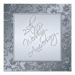 Silberner Glitter-25. Jahrestags-Druckeinladung Einladungen