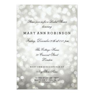 Silberner Glitter beleuchtet elegantes Brautparty 12,7 X 17,8 Cm Einladungskarte