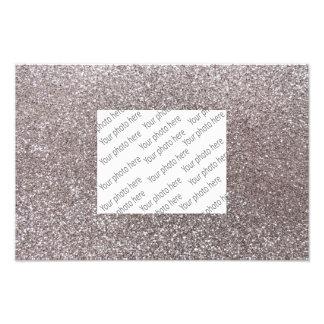 Silberner Glitter Fotodruck