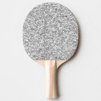 Silberner Glitter gedruckt Tischtennis Schläger